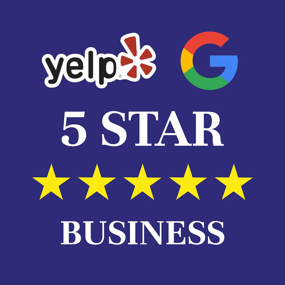 Yelp & Google 5 Stare Business